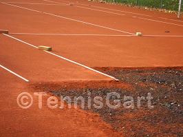 Teilsanierung Tennisplatz Teilüberholung Tennisplatzbau