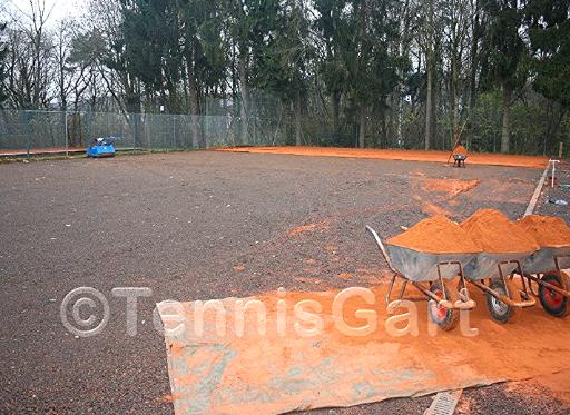 Grundsanierung Grundüberholung Tennisplatz