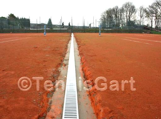 Teilüberholung Teilsanierung von Tennisplätzen