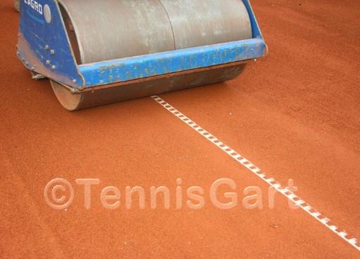 Tennisplatz Walzen Teilsanierung Tennisplatzpflege