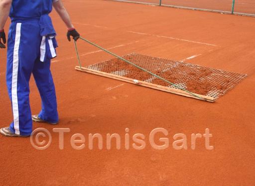 Tennisplatzpflege Anleitung Teilsanierung