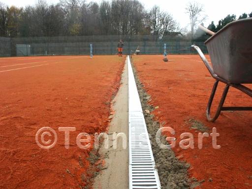 Teilsanierung Teilüberholung Entwässerung  Tennisplatzbau