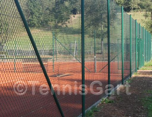 Tennisplatz Zaunreparatur Zaunbau