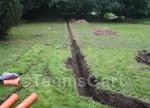 Drainage, Entwässerung, Gartenarbeit