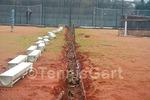 Entwässerung Tennisplatzbau